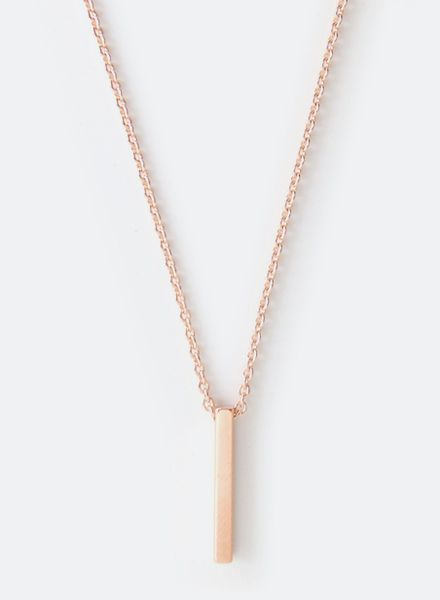 "SIBYLAI Necklace ""Bar rose"" made of gold plated silver - rosegold"