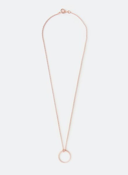 "SIBYLAI Necklace ""Circle Rose"" made of gold plated brass - rosegold"