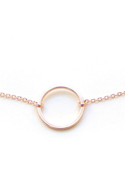 "SIBYLAI Halskette ""Kreis"" hergestellt aus vergoldetem Messing - Rosegold"