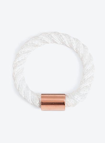 """SIBYLAI Armreif """"Copper Bold White"""" erhältlich in 3 Varianten: Schwarz/ Weiss & Kupfer"""