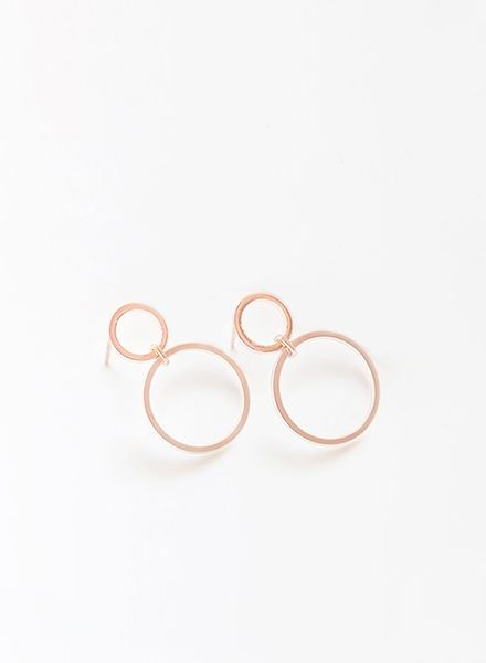 "SIBYLAI Earring ""No.2 Rosegold"" made of gold plated silver"