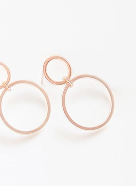 "SIBYLAI Earring ""No.2 Rosegold"" made of gold plated brass"