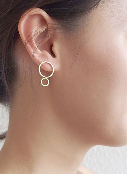 "SIBYLAI Earring ""No.4 Gold"" made of gold plated silver"