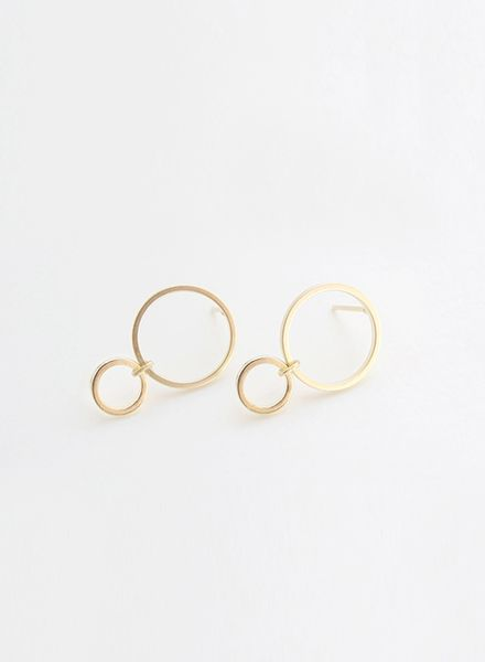 """SIBYLAI Earring """"No.4 Gold"""" made of gold plated brass"""