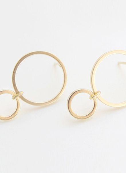 "SIBYLAI Ohrringe ""No.4 Gold"" hergestellt aus vergoldetem Messing"