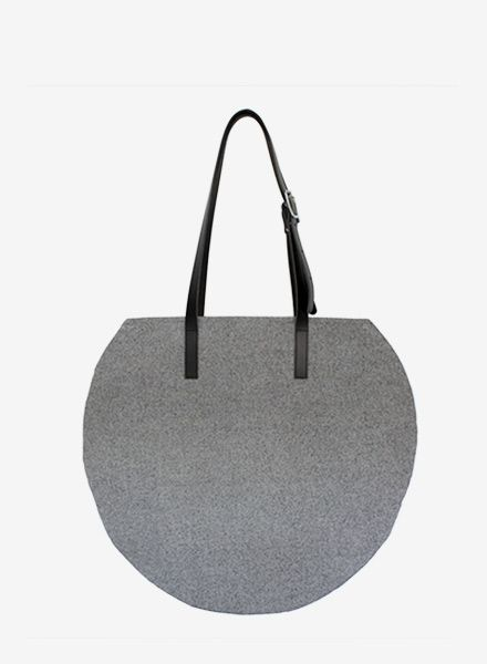 """Sarah Johann Bag """"Visby"""" Grey - hip shopper made of durable cotton canvas"""
