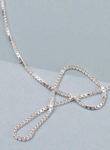 "Jukserei Necklace ""Smooth"" Silver is made of 925 sterling silver"