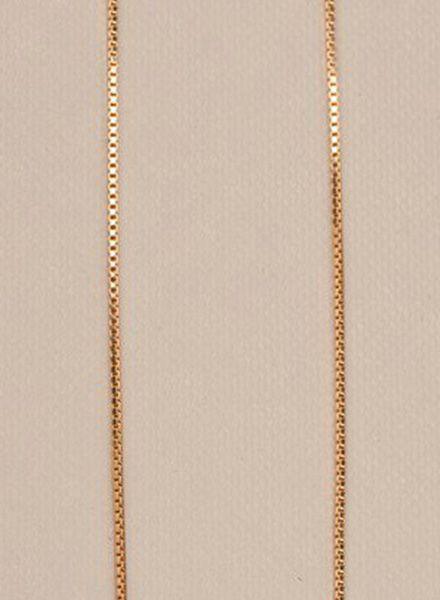 "Jukserei Kette ""Smooth"" Gold - hergestellt aus vergoldetem 925er Silber"