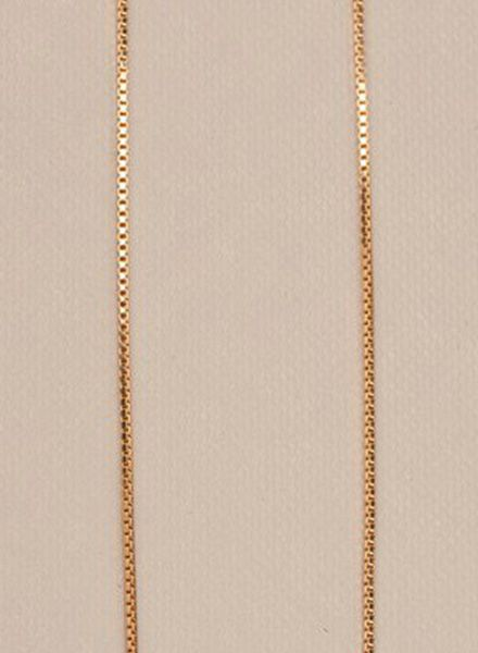 "Jukserei Necklace ""Smooth"" Gold is made of gold plated 925 sterling silver"