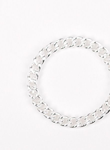 "Jukserei Chain ring ""Grumetta"" Silver is handmade of 925 sterling silver"