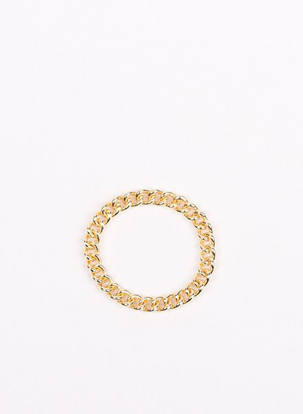 "Jukserei Chain ring ""Grumetta"" Gold is handmade of gold plated 925 sterling silver"