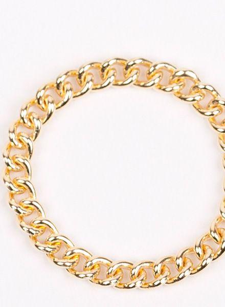 "Jukserei Ketten-Ring ""Grumetta"" Gold - handgefertigt aus vergoldetem 925er Sterling Silber"