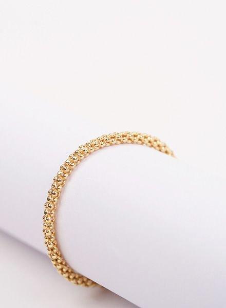 """Jukserei Ketten-Ring """"Acorn"""" Gold"""