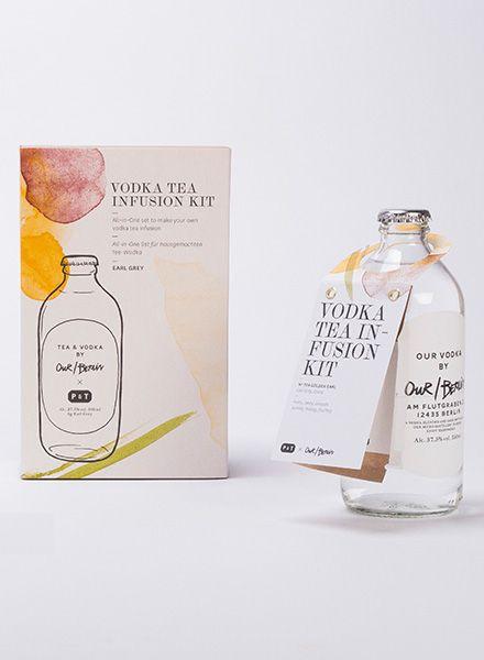 Paper & Tea Vodka Tea Infusion Kit I Golden Earl - Mit Tee aromatisierter Vodka