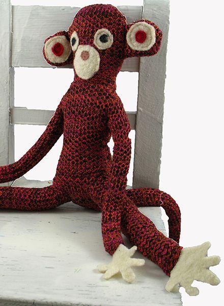 """Teeny Tini Spielzeug """"Affe Foebes"""" - hergestellt aus organischem Garn in Berlin"""