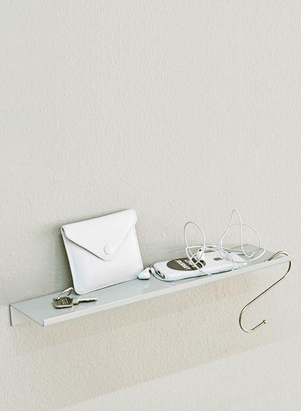 """Kolor Wall shelf """"Z-shelf"""" - Shelf grey powder coated"""