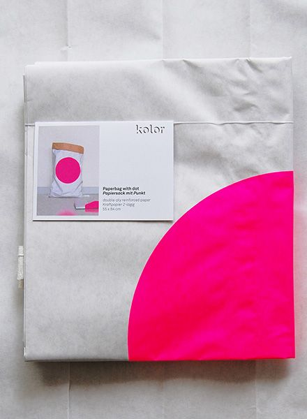 "Kolor Paper Bag ""Dot"" - Durable bag for storage made of reinforced paper"