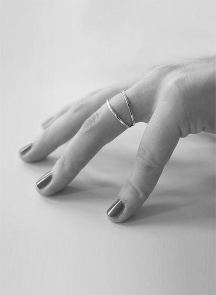 """Felicious Fingerring """"Hoops Gold"""" - 925er Silber mit 750er Rot-Goldplattierung"""