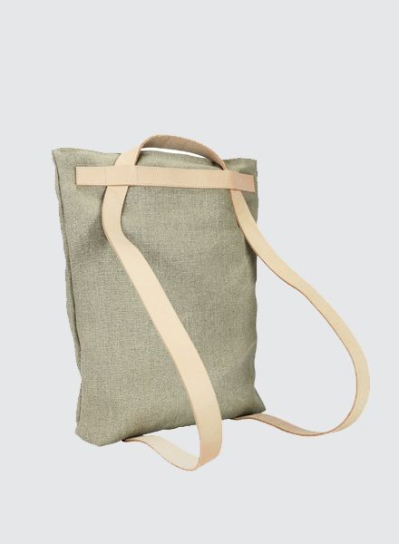 "Sarah Johann ""Skagen"" Linen can be carried as tote bag and backpack"