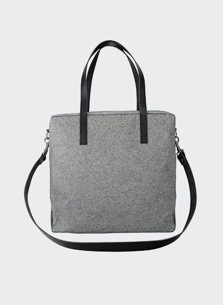 "Sarah Johann ""Oslo #2"" Grey - Shoulder bag made of water resistant Italien canvas"