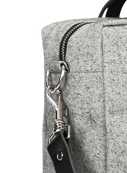 "Sarah Johann ""Oslo #2"" Grey - Shoulder bag made of water resistant Italien canvas"