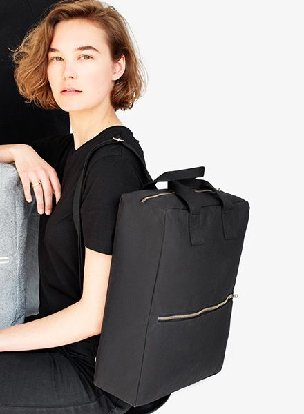 "Sarah Johann ""Pajala #2"" Black - Backpack made of water resistant Italien canvas"