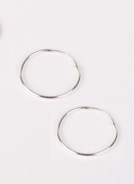 """Jukserei Earring """"Hoops"""" Silver"""