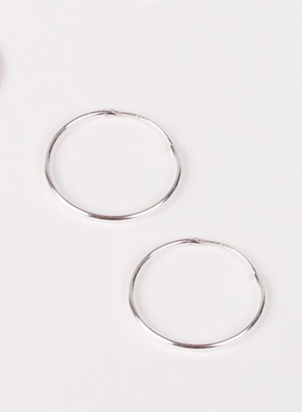 "Jukserei Earring ""Hoops"" Silver made of 925 sterling silver"