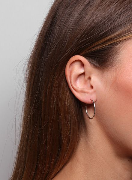Jukserei Earring Hoops Silver Made Of 925 Sterling