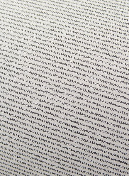 "All The World´s ... Number ""Pi""- printed with over 1 million decimals on a single poster"