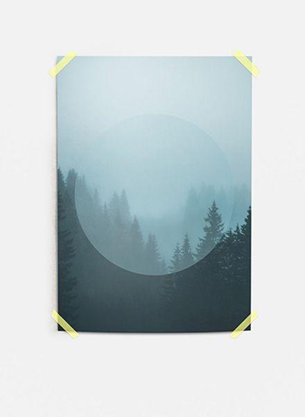"""Mania Poster """"Landscapes Circular 2 Forest - Moderner Kunstdruck"""
