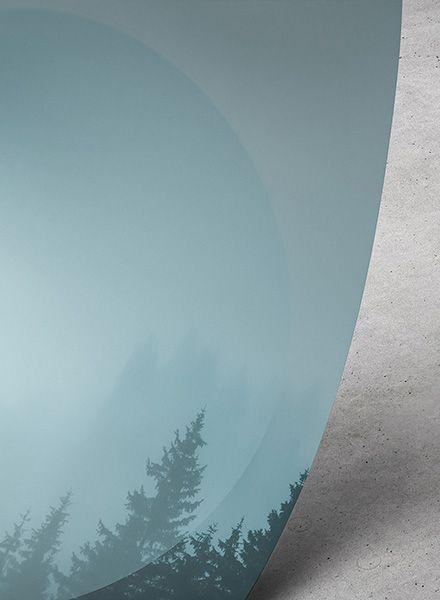"""Mania Poster """"Landscapes Circular 2 Forest - Modern artprint"""