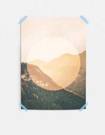 """Mania Poster """"Mountains"""" Orange"""