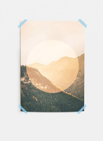 "Mania Poster ""Mountains"" Orange"