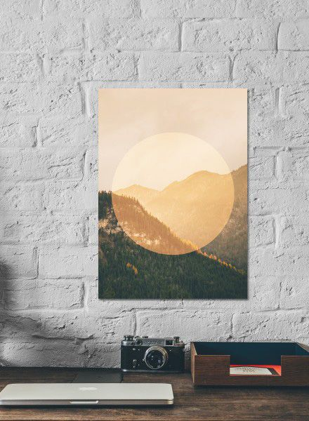 "Mania Poster ""Landscapes Circular 2 Mountains - Modern artprint"