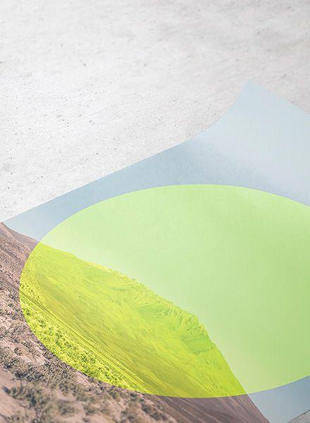 "Mania Poster ""Landscapes Circular 1 Salar de Uyuni - Modern artprint"