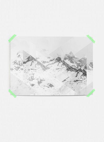 """Mania Poster """"Landscapes Scattered 1 Perito Moreno"""" - Moderner Kunstdruck"""