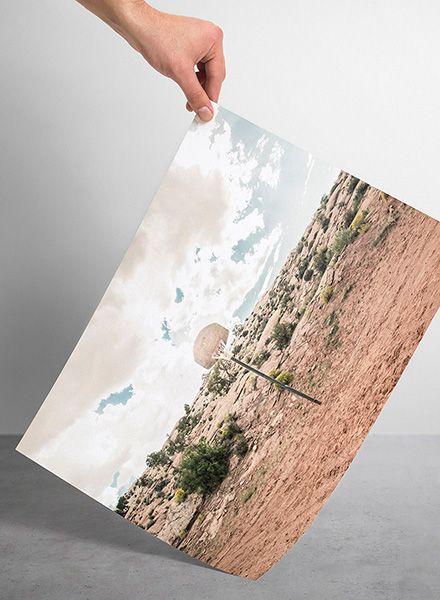"Mania Poster ""Streetball courts 1 Arizona USA"" - Modern art print"
