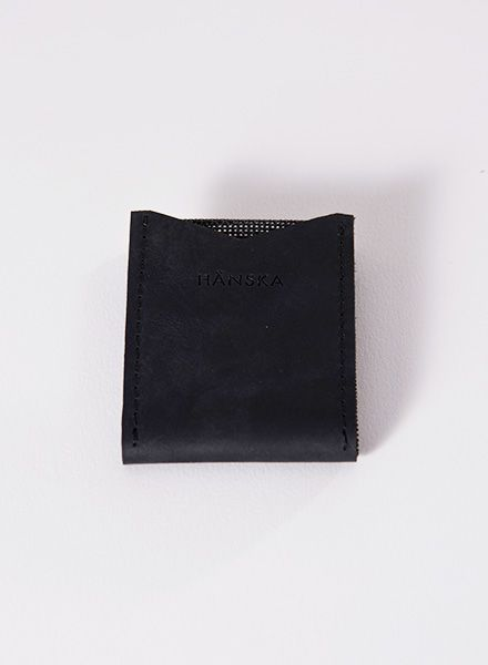 Hänska Cardholder made of leather and mesh-fabric in 2 colours