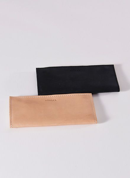 Hänska Wallet made of leather and mesh-fabric in 2 colours