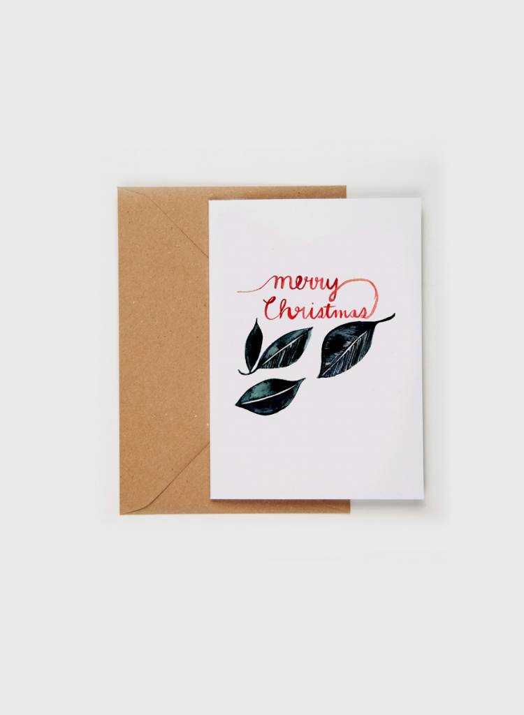 "Gretas Schwester Folding card ""Merry Christmas"" - Hand illustrated greeting card"