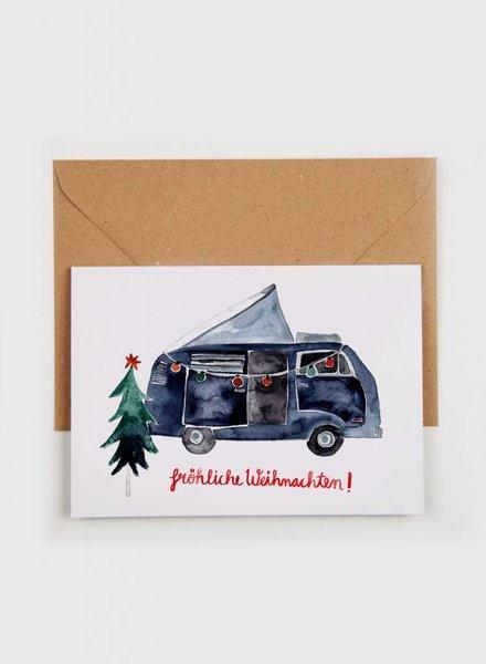 """Gretas Schwester Weihnachtskarte """"Fröhliche Weihnachten"""""""