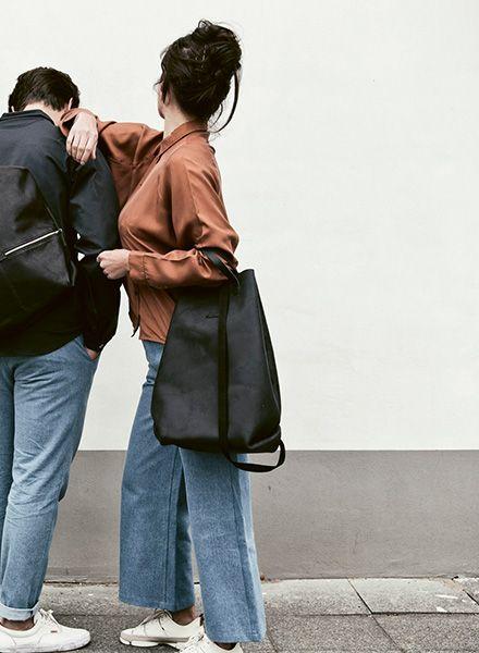 Hänska Shopper/Backpack made of vegetable tanned Italien leather