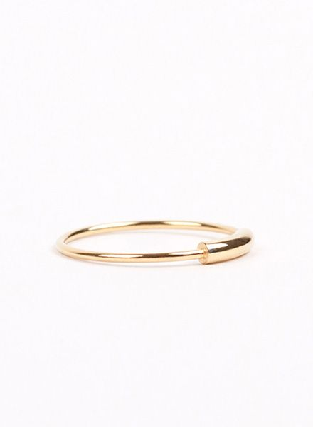 "Jukserei Ring ""Tube"" Gold - handmade of gold plated 925 sterling silver"
