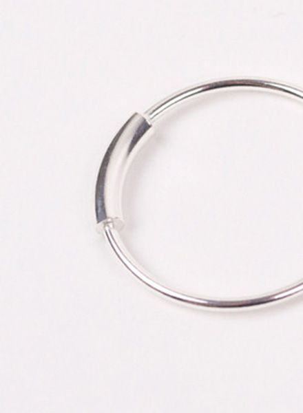 "Jukserei Ring ""Tube"" Silver - handmade of 925 sterling silver"