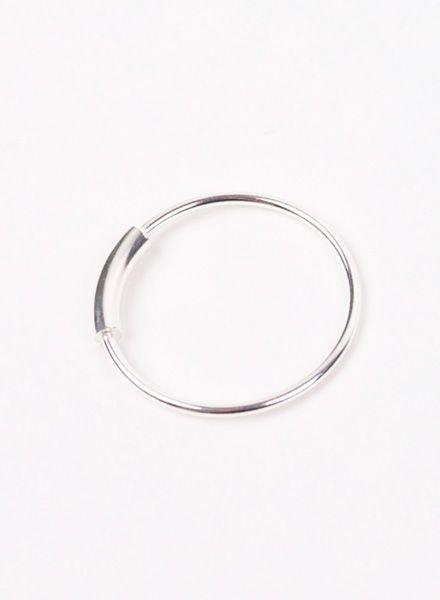 "Jukserei Ring ""Tube"" Silber"