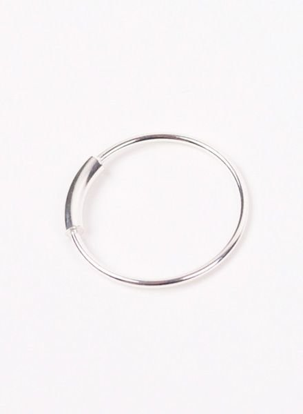 "Jukserei Ring ""Tube"" Silver"