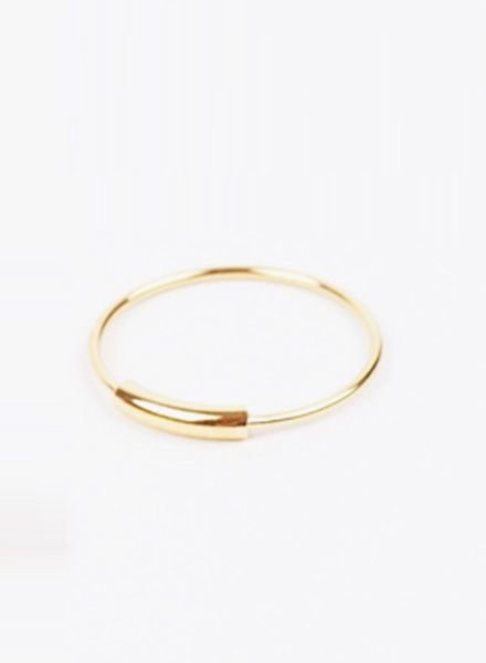 "Jukserei Ring ""Tube"" Gold"