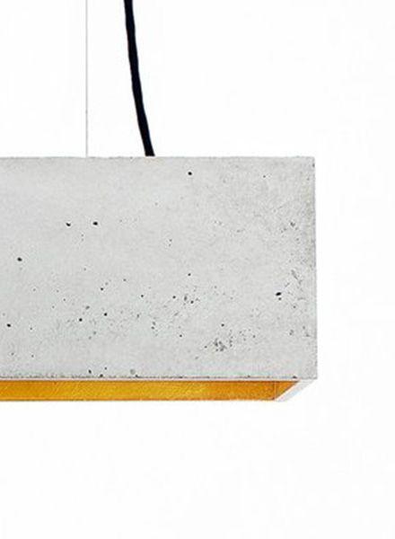 """GANTlights Hängelampe """"B4"""" hergestellt aus Beton - Innenseite vergoldet"""
