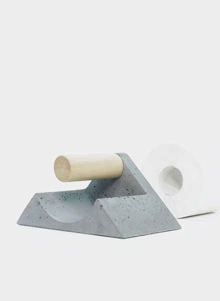 WertWerke Toilet tissue holder - Concrete without chemical additives